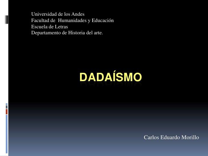 Universidad de los AndesFacultad de Humanidades y EducaciónEscuela de LetrasDepartamento de Historia del arte.            ...