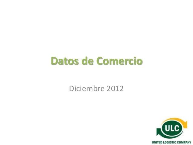Datos de Comercio   Diciembre 2012
