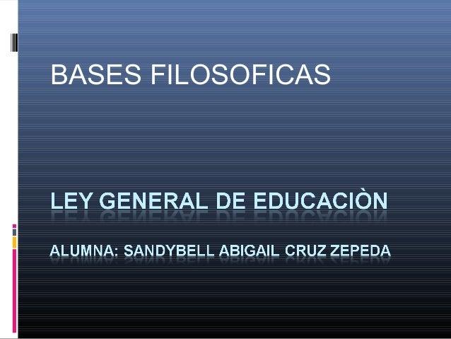BASES FILOSOFICAS