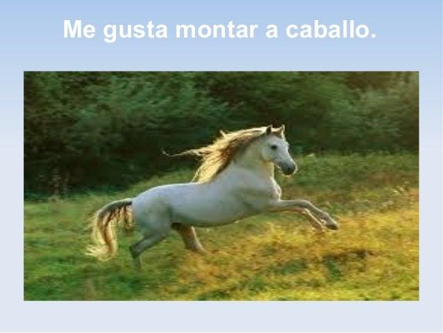 Me gusta montar a caballo.