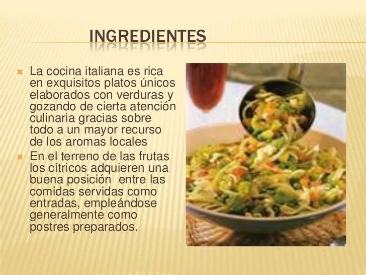 Presentacion de diapositiva de cocina italiana - Todo sobre la cocina ...