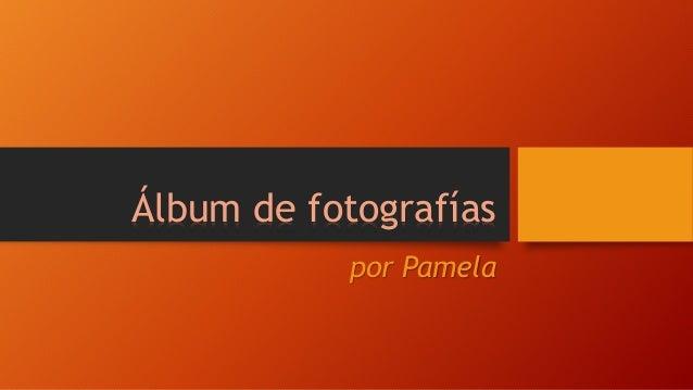 Álbum de fotografías  por Pamela