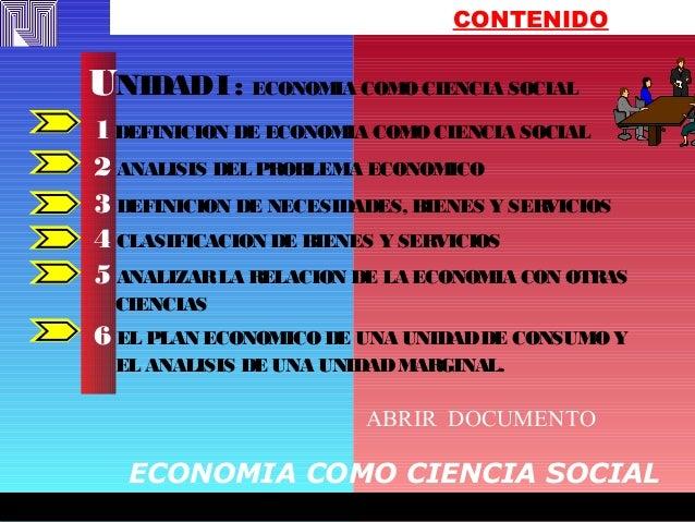 FREDY EFFFFFFFREDYFREDY EFFFFFFFREDY CONTENIDO 1DEFINICION DE ECONOMIA COMO CIENCIA SOCIAL 2 ANALISIS DEL PROBLEMA ECONOMI...