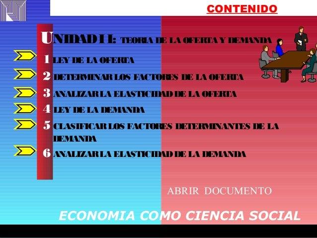 FREDY EFFFFFFFREDYFREDY EFFFFFFFREDY CONTENIDO 1LEY DE LA OFERTA 2 DETERMINARLOS FACTORES DE LA OFERTA 3 ANALIZARLA ELASTI...