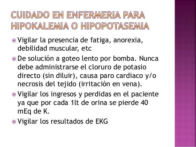 SINTOMAS Neuromusculares: debilidad muscular vaga, parestesias. Trastornos en la conducción eléctrica del corazón: taquica...