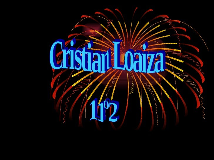 Cristian Loaiza  11º2