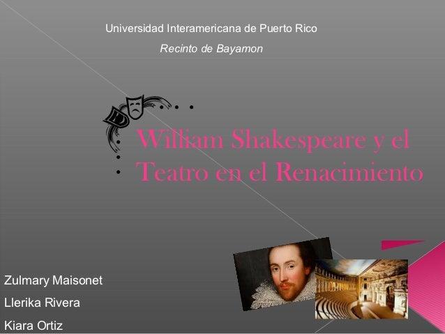 Universidad Interamericana de Puerto Rico                             Recinto de Bayamon                        William Sh...