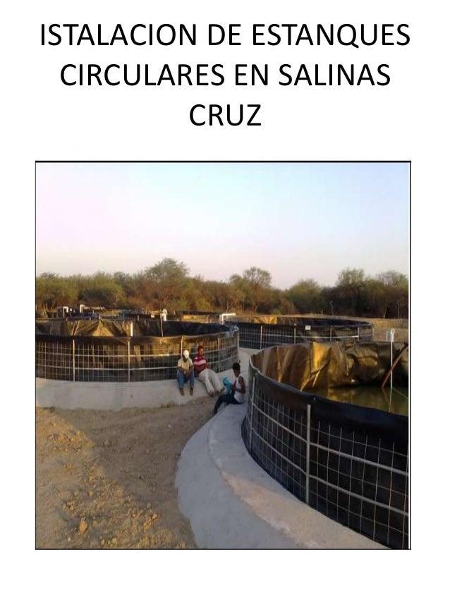 presentacion de estanques circulares de geomembrana
