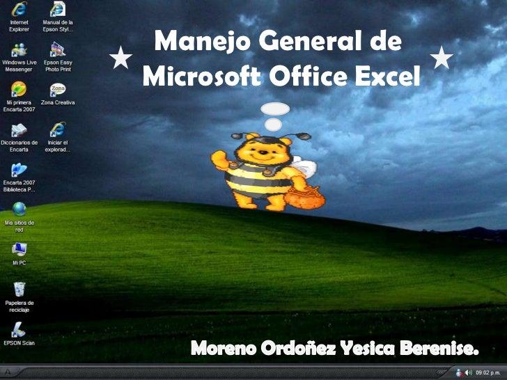 Manejo General deMicrosoft Office Excel