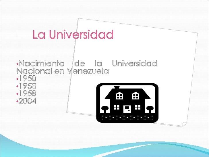 Componente Docente Trabajo I -UNIVERSIDADES NACIONALES Slide 3