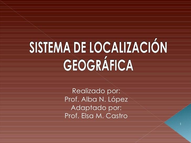 Realizado por: Prof. Alba N. López Adaptado por: Prof. Elsa M. Castro