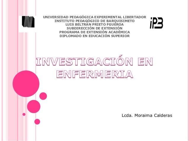 UNIVERSIDAD PEDAGÓGICA EXPERIMENTAL LIBERTADOR     INSTITUTO PEDAGÓGICO DE BARQUISIMETO          LUIS BELTRÁN PRIETO FGUER...
