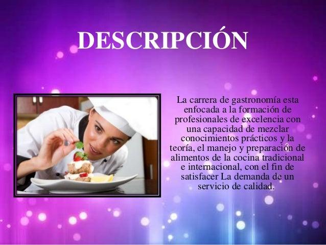 Gastronom a carrera universitaria - Carrera de cocina ...