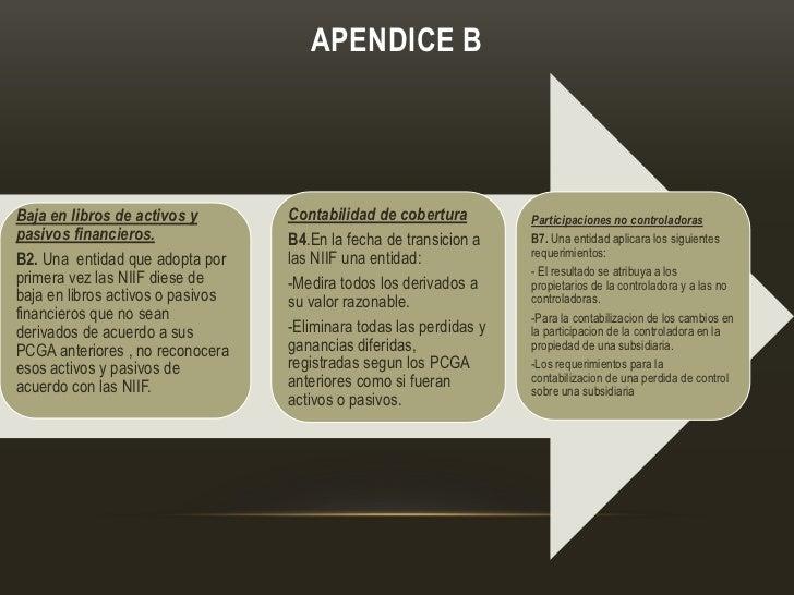 APENDICE BBaja en libros de activos y        Contabilidad de cobertura         Participaciones no controladoraspasivos fin...