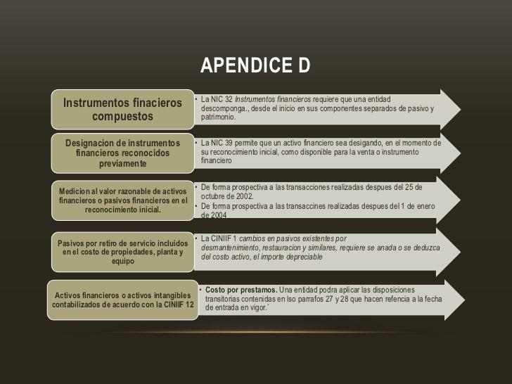 APENDICE D                                             • La NIC 32 Instrumentos financieros requiere que una entidad   Ins...