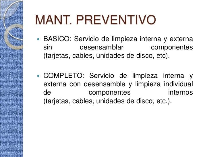 presentacion del curso taller de mantenimiento preventivo