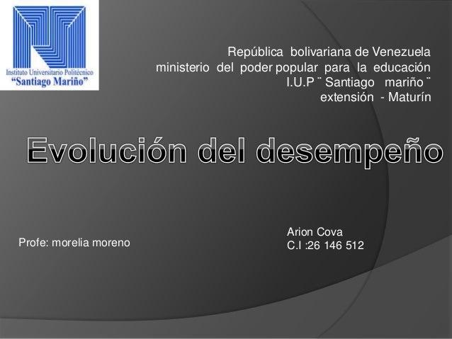 República bolivariana de Venezuela ministerio del poder popular para la educación I.U.P ¨ Santiago mariño ¨ extensión - Ma...