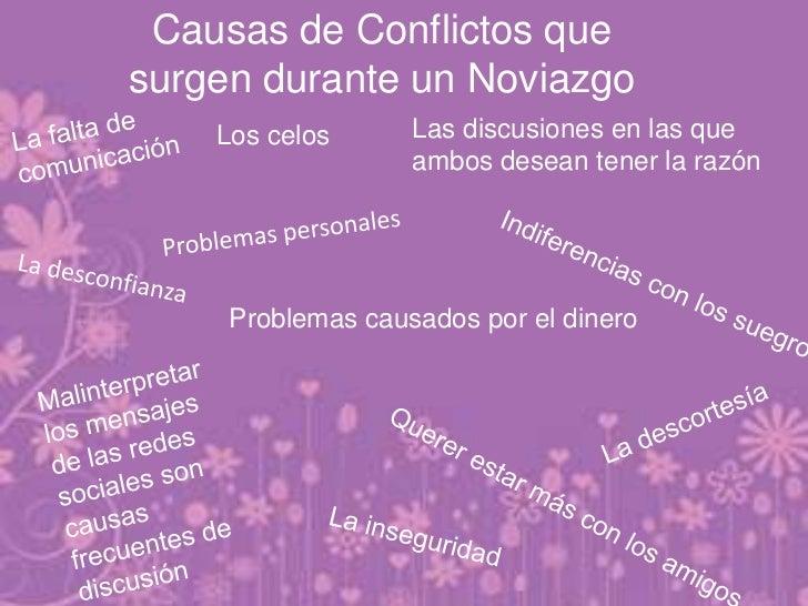 Causas de Conflictos quesurgen durante un Noviazgo    Los celos      Las discusiones en las que                   ambos de...