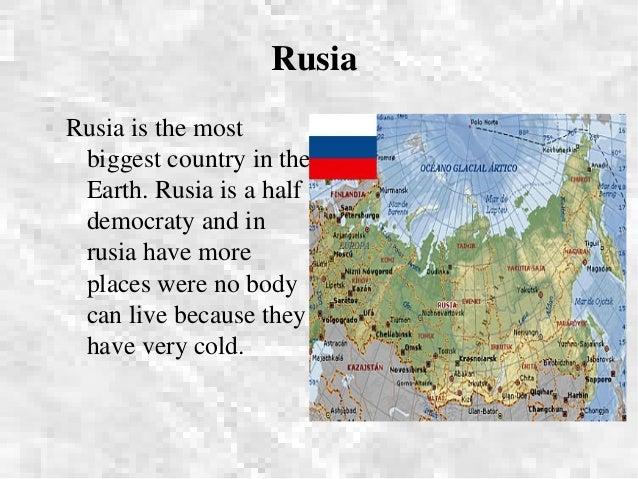 Presentation Of The Countries In The World - Biggest country in the world