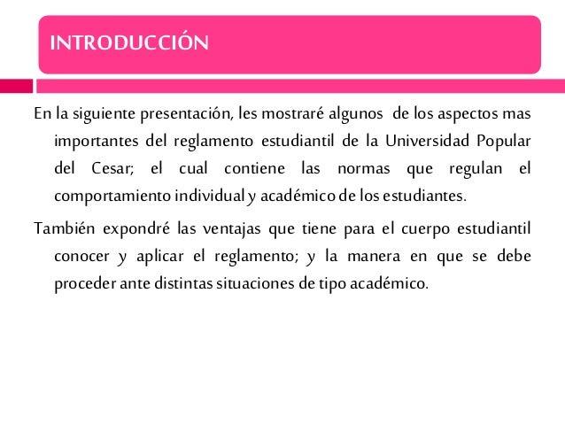 Presentacion del reglamento estudiantil   upc Slide 3