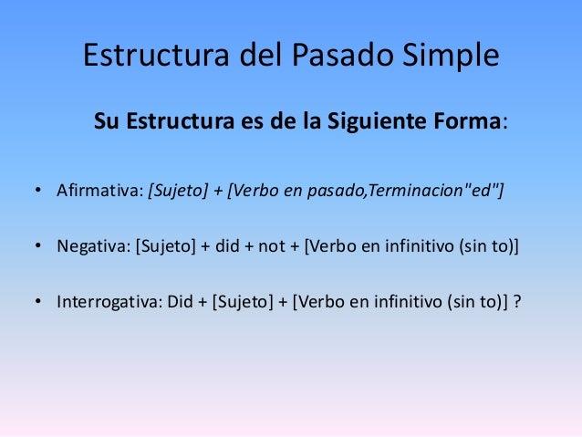 Estructura Gramatical Del Pasado Simple - 2021 idea e ...