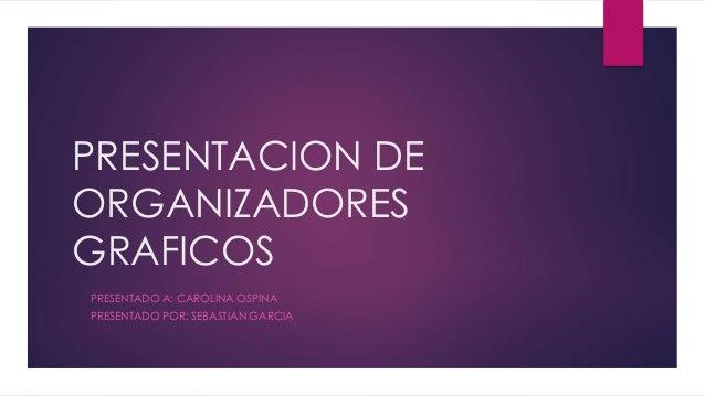 PRESENTACION DE ORGANIZADORES GRAFICOS PRESENTADO A: CAROLINA OSPINA PRESENTADO POR: SEBASTIAN GARCIA