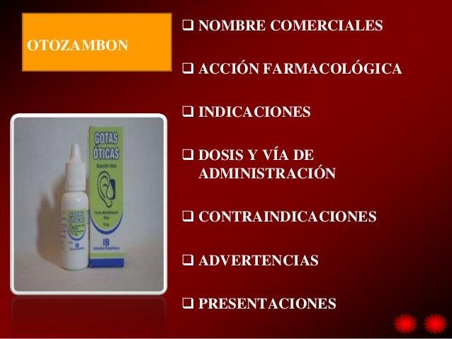 Benzocaina presentaciones
