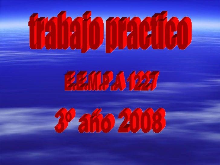 trabajo practico E.E.M.P.A 1227 3º año 2008
