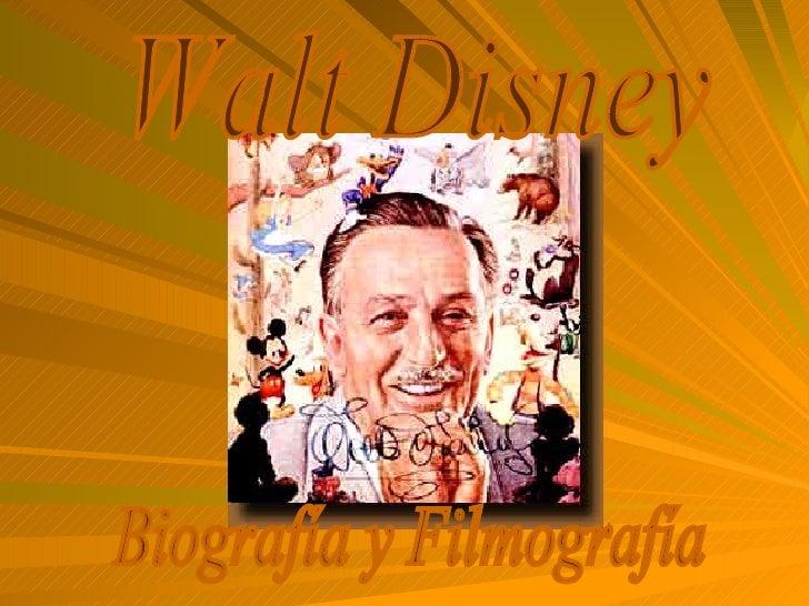 Walt Disney Biografía y Filmografía
