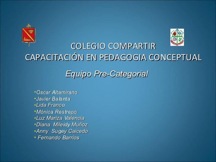 COLEGIO COMPARTIR CAPACITACIÓN EN PEDAGOGIA CONCEPTUAL <ul><li>Equipo Pre-Categorial  </li></ul><ul><li>Oscar Altamirano <...