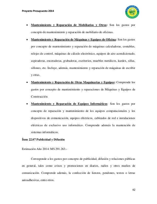 presupuesto municipal 2014 comuna la florida