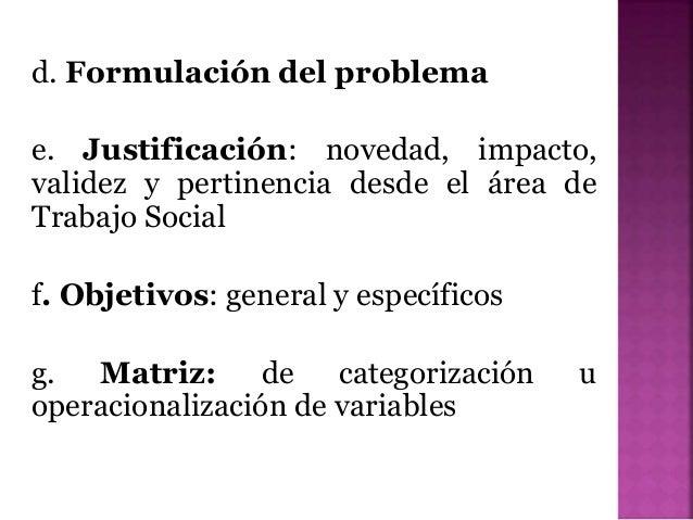 Criterios para Presentacion de Propuesta de Investigación Slide 3
