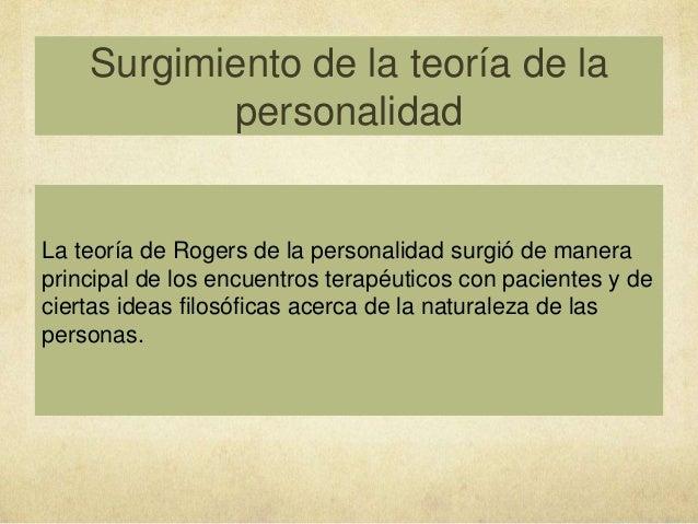 teoria de la personalidad segun carl rogers