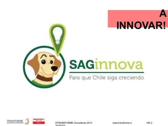 ©TRANSFORME Consultores 2013 www.transforme.cl +56 2 A INNOVAR!