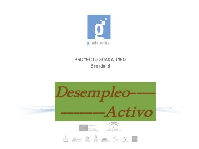 PROYECTO GUADALINFO      Benadalid