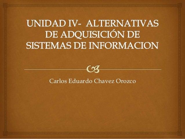 Carlos Eduardo Chavez Orozco