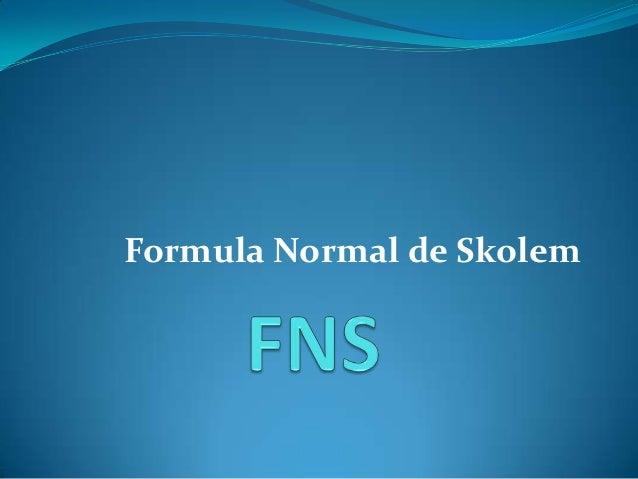 Formula Normal de Skolem
