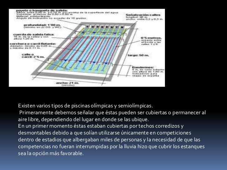 Presentacion de tema de dhtic for Medidas piscina semiolimpica