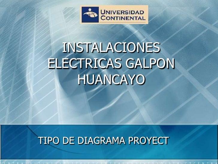INSTALACIONES ELECTRICAS GALPON HUANCAYO<br />TIPO DE DIAGRAMA PROYECT<br />