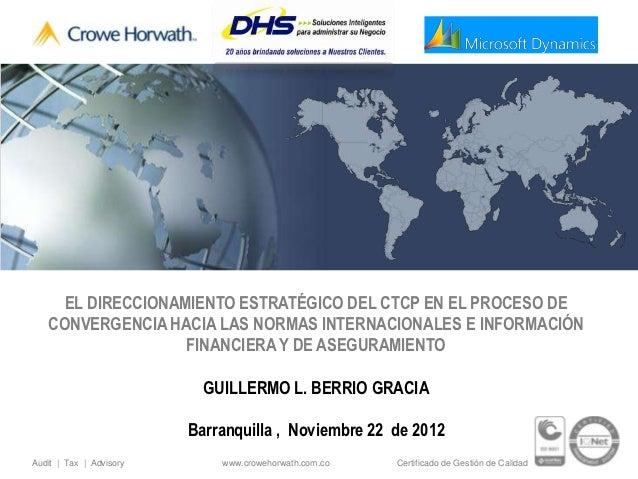 EL DIRECCIONAMIENTO ESTRATÉGICO DEL CTCP EN EL PROCESO DE   CONVERGENCIA HACIA LAS NORMAS INTERNACIONALES E INFORMACIÓN   ...