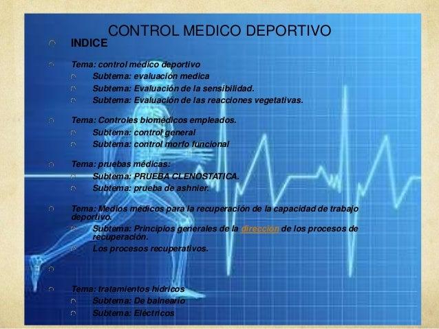 control medico deportivo