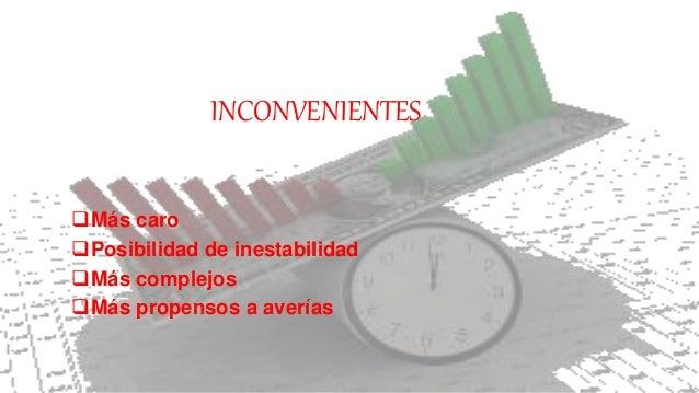 INCONVENIENTES Más caro Posibilidad de inestabilidad Más complejos Más propensos a averías