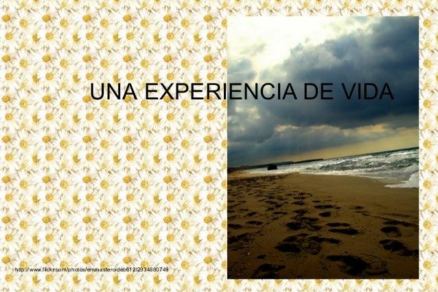 UNA EXPERIENCIA DE VIDA http://www.flickr.com/photos/enunasteroideb612/2934880749