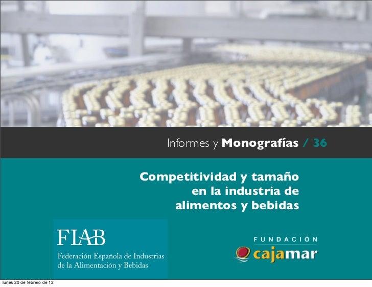 Informes y Monografías / 36                            Texto                            Competitividad y tamaño           ...