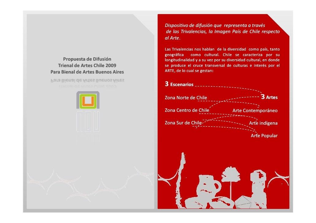 Dispositivo de difusión que representa a través                                     de las Trivalencias, la Imagen País de...