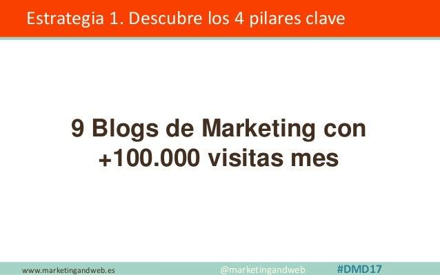 www.marketingandweb.es Estrategia 1. Descubre los 4 pilares clave @marketingandweb #DMD17