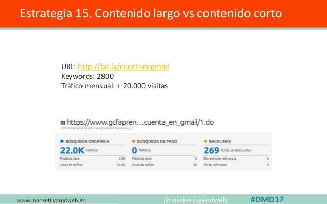 www.marketingandweb.es Estrategia 16. Crear una Familia @marketingandweb #DMD17