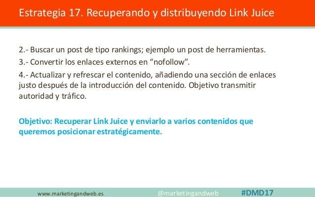 www.marketingandweb.es Sobreoptimización descripción Estrategia 18. Repetir la palabra clave en la descripción. @marketing...