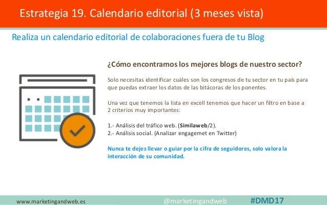 www.marketingandweb.es Estrategia 20. Optimiza la velocidad de carga @marketingandweb #DMD17