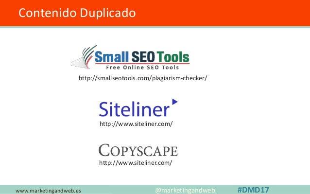 ESTRATEGIAS www.marketingandweb.es • Construye puentes con otros profesionales y empresas • No te obsesiones con la genera...